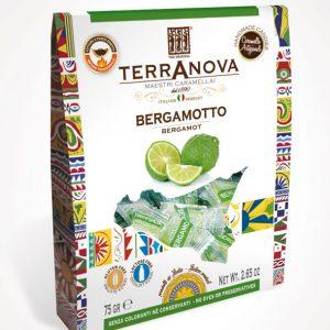 caramelle artigianali siciliane al bergamotto terranova sicilian soul confezione 75g