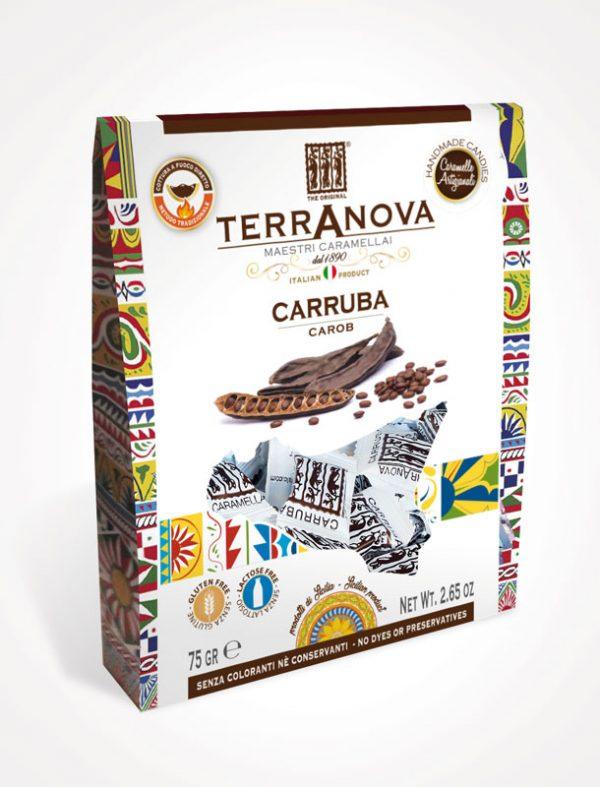 caramelle artigianali siciliane alla carruba terranova sicilian soul confezione 75g