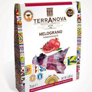 caramelle artigianali siciliane al melograno terranova sicilian soul confezione 75g