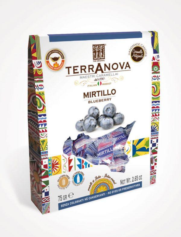 caramelle artigianali siciliane al mirtillo terranova sicilian soul confezione 75g