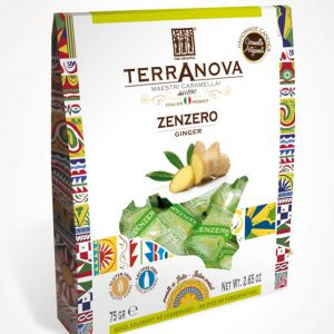 caramelle artigianali siciliane allo zenzero terranova sicilian soul confezione 75g